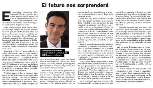 El futuro nos sorprenderá - El Correo 31.12.12