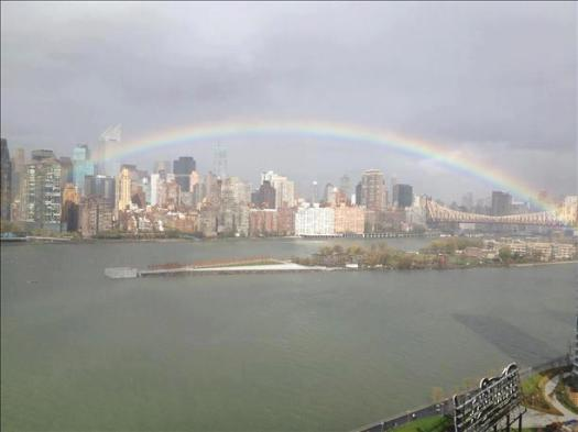 rainbow after Sandy