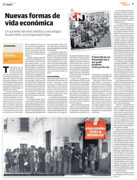 El Correo - Territorios - Nuevas Formas de vida económica