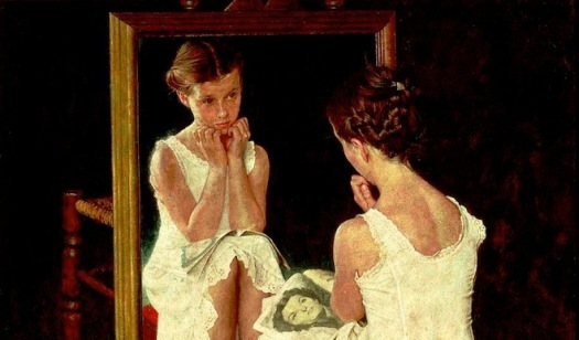 Girl at the mirror -  Norman Rockwell