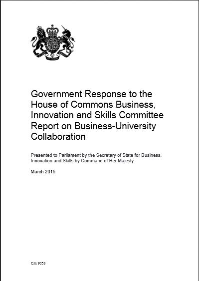 Government Response 7th Report University Business Collaboration